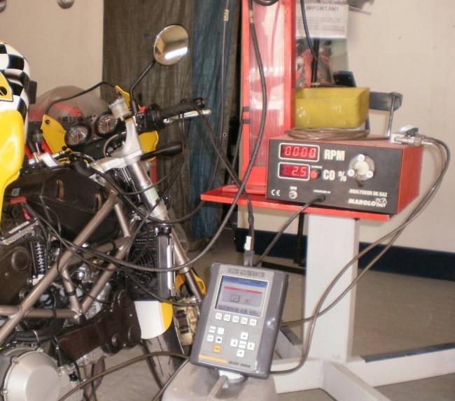 diagnostique et r�glage richesse, moteur ducati, atelier cg mecanic